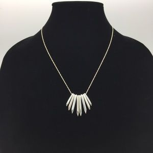 Stella Dot Cluster Necklace Silver Spike